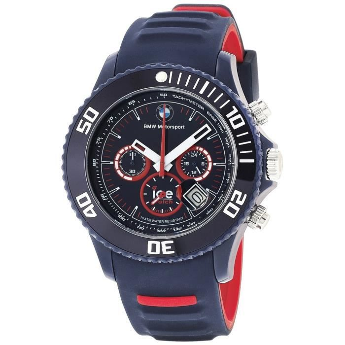 montre ice watch bmw motorsport dark blue et red big 48mm achat vente montre. Black Bedroom Furniture Sets. Home Design Ideas