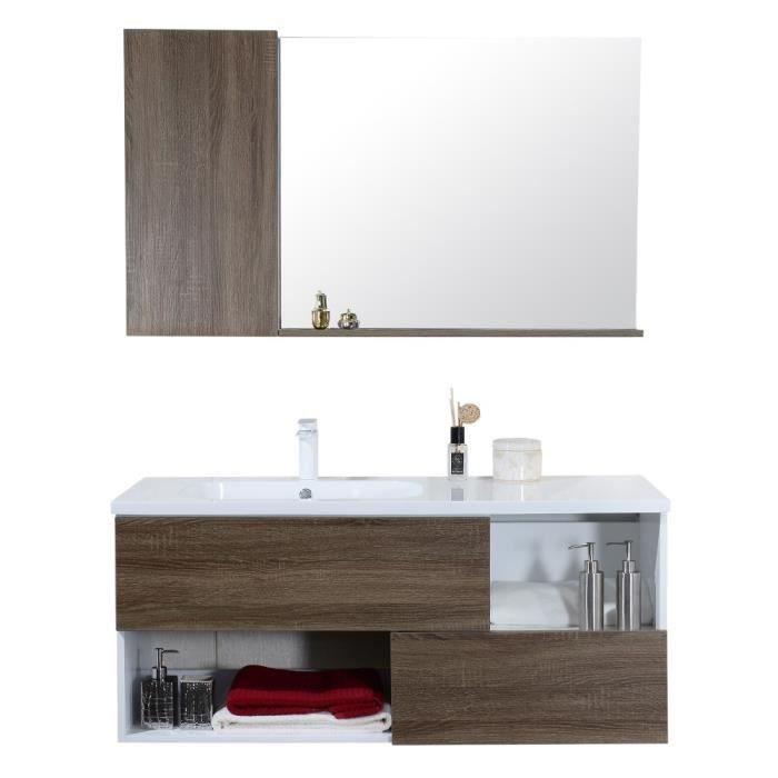 Meuble De Salle De Bain Simple Vasque Avec Miroir Etagere