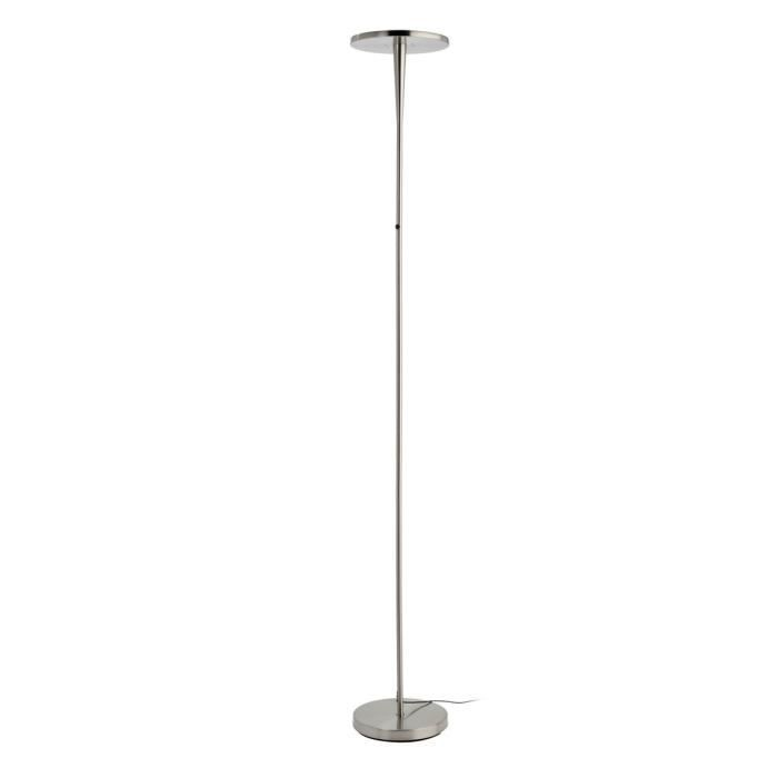 Lampadaire epure led integr gris hauteur 180 cm for Lampadaire interieur led