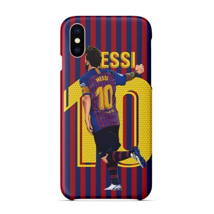 Coque iPhone 7 Plus,Barcelona Football Motif MESSI Coque Bumper ...