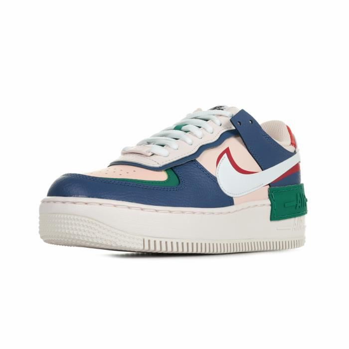 Baskets Nike Air Force 1 Shadow Wn's Bleu marine, rose, vert ...