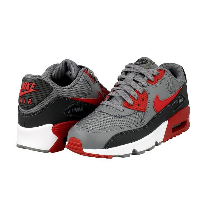 Baskets Nike Air Max 90 MESH (GS) 833418-007 grises et rouges. WrqaE0q9