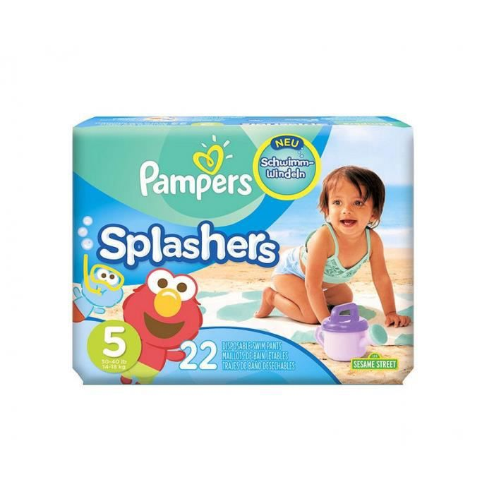 pampers maillots de bain 44 couches splashers 14 18kg taille 5 plage et piscine achat. Black Bedroom Furniture Sets. Home Design Ideas