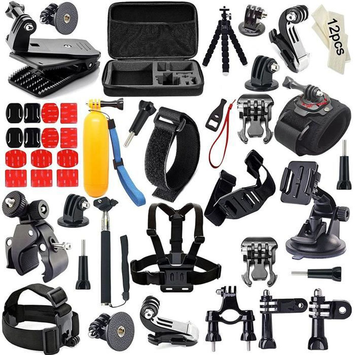 iextreme 55 en 1 kit d 39 accessoires pour gopro hero 5 4 3 2. Black Bedroom Furniture Sets. Home Design Ideas
