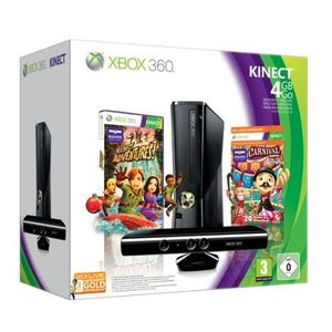 CONSOLE XBOX 360 XBOX 360 4GO+KINECT+CARNIVAL+LIVE GOLD 3 MOIS