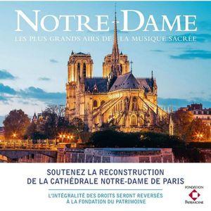 CD VARIÉTÉ FRANÇAISE Notre-Dame - les Plus Grands Airs de la Musique Sa