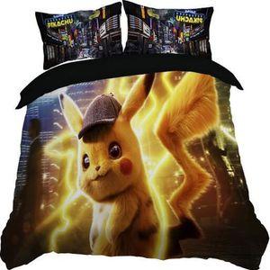 HOUSSE DE COUETTE ET TAIES Pokémon Pikachu Parure de Couette 1 Housse de Coue