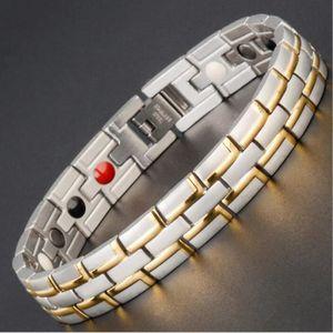 BRACELET - GOURMETTE Bracelet Bijoux hommes - Acier inoxydable Aimant L
