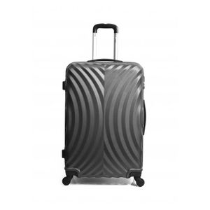 VALISE - BAGAGE Valise Cabine-ABS -Rigide -50 cm LAGOS-GRIS FONCE