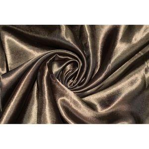 TISSU Tissu Satin Polyester Choco -Au Mètre
