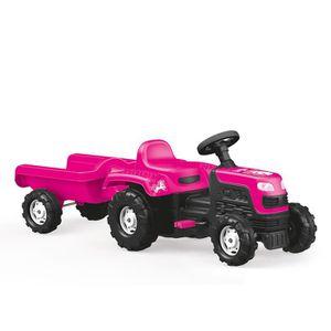 TRACTEUR - CHANTIER Dolu - Tracteur à pédales avec remorque - enfant -