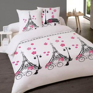housse de couette 200x200 paris achat vente housse de couette 200x200 paris pas cher cdiscount. Black Bedroom Furniture Sets. Home Design Ideas
