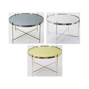 Table basse doree achat vente table basse doree pas cher cdiscount - Petite table basse ronde pas cher ...