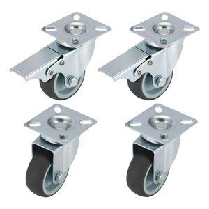 ROUE - ROULETTE 4 Roulettes pour Meubles 2 Roulette Pivotante avec