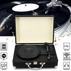 PLATINE VINYLE Rétro Tourne-disque Platine Vinyle Lecteur Bluetoo