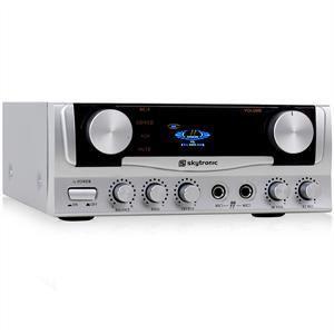 AMPLIFICATEUR HIFI Mini Ampli PA HiFi Karaoke 2x entrée micro 400W