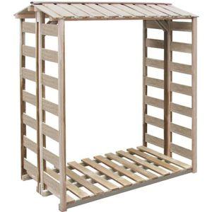 ABRI BÛCHES vidaXL Abri de stockage du bois 150x100x176 cm Pin