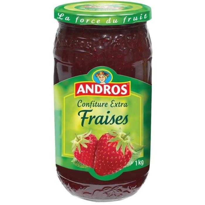 ANDROS Confiture Extra de fraises - 1 Kg