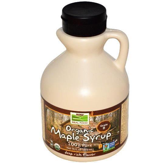 Now Foods, sirop d'érable biologique, Grade B, profondes riches en saveur,16 onces (473 ml).