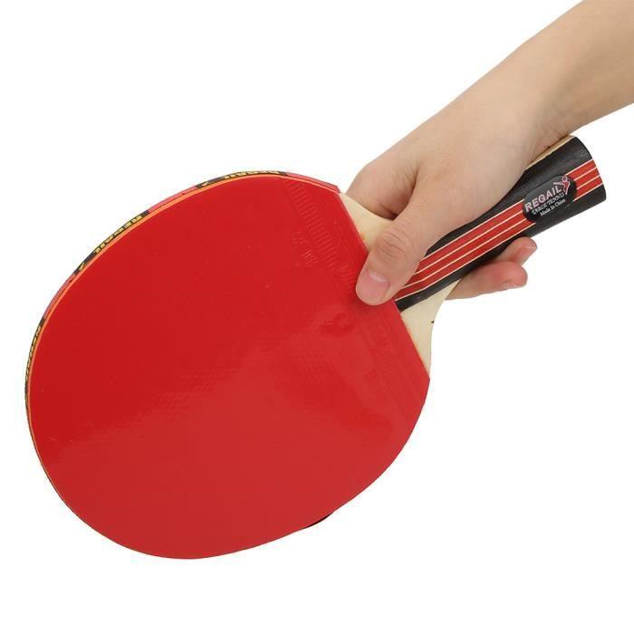 REGAIL Adulte Adolescent Simple Tennis De Table Raquettes Entraînement Pratique Avec Sac De Rangement (sac rouge 8018)-REN