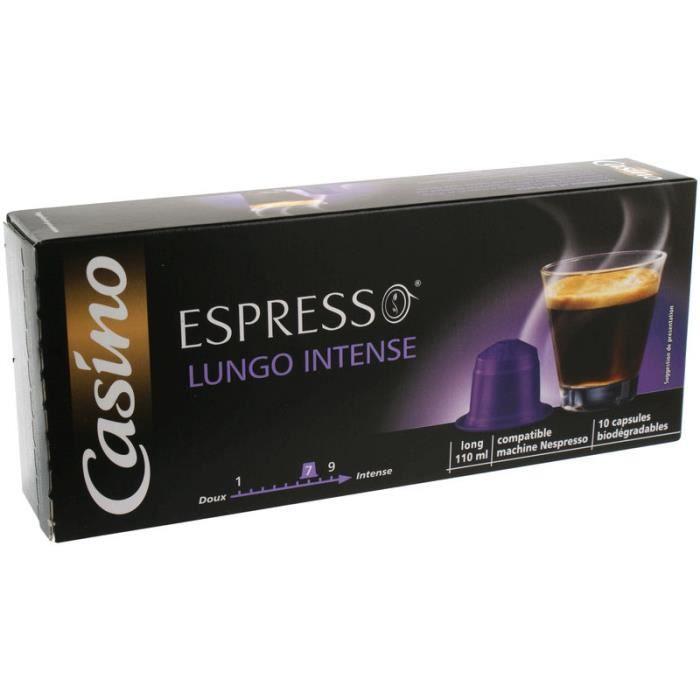 Lot de 10 capsules de café Lungo N° 7 - 52 g