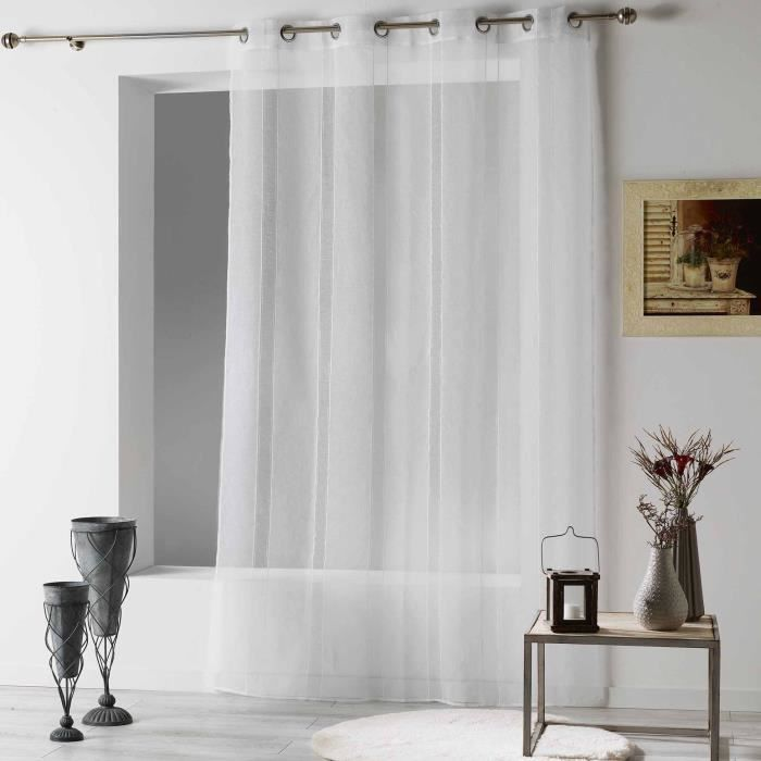 CDaffaires Panneau a oeillets 140 x 240 cm voile sable feliza Blanc