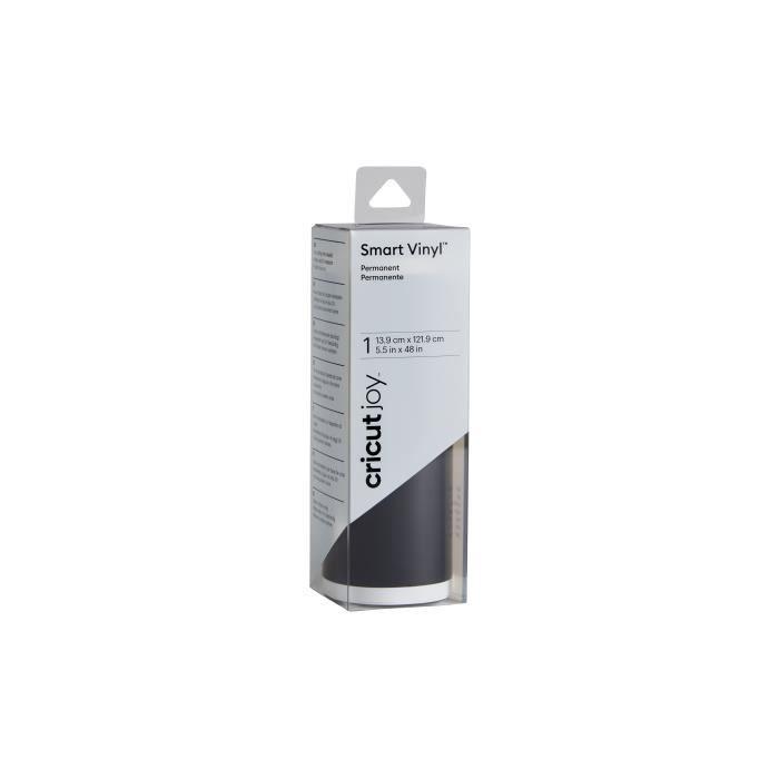 Cricut - Vinyle Smart Permanent Brillant Noir - 1,2 m