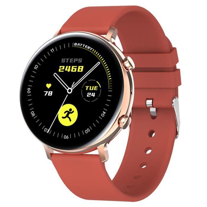 Haut de gamme Fitness Trackers, sport santé montre Smart Watch avec la fréquence cardiaque, rouge
