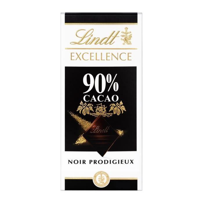 LOT DE 2 - LINDT Excellence Chocolat noir 90% - tablette de 100 g