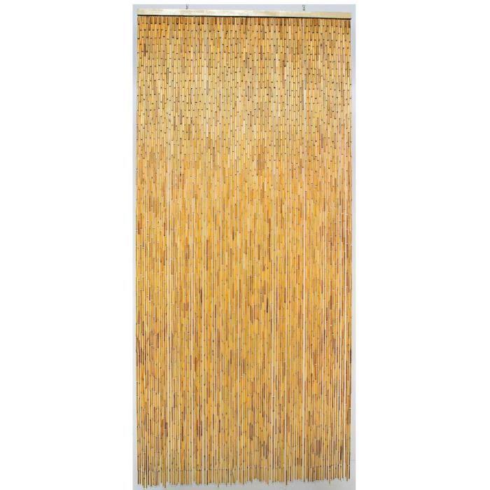 Rideau de porte Bambou Naturel Morel 100 x 220cm