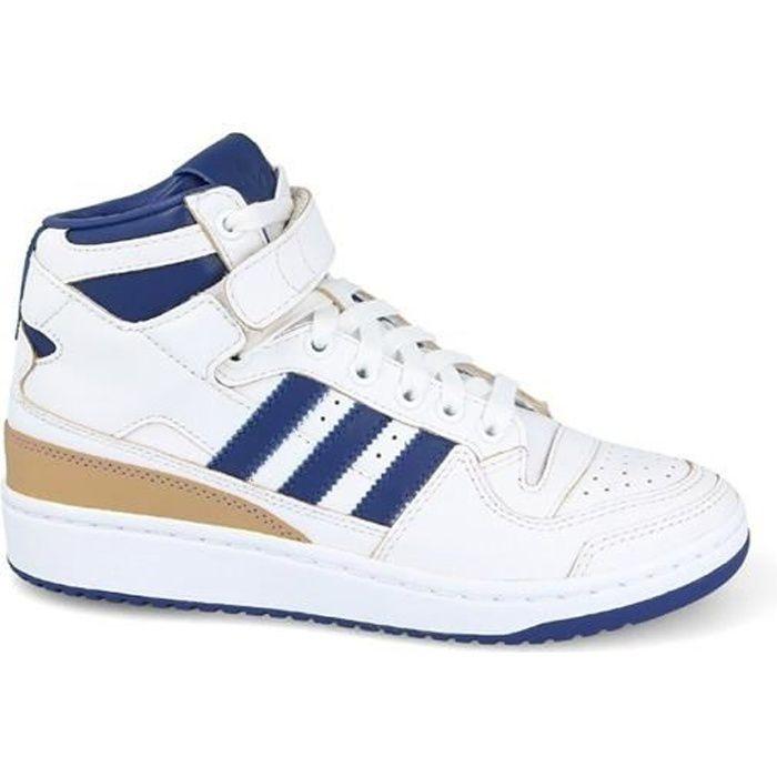 adidas Forum Mid (Wrap), Chaussures de Gymnastique Mixte Enfant, Multicolore (Ftwr White/Collegiate Royal/Ftwr White), 39 1/3 EU