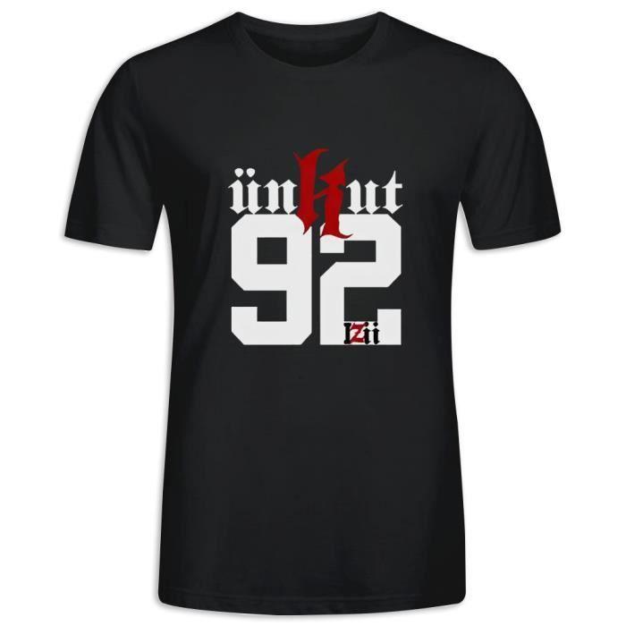 T-Shirt avec imprimé en unkut Booba Logo Manche Courte Tee - Homme