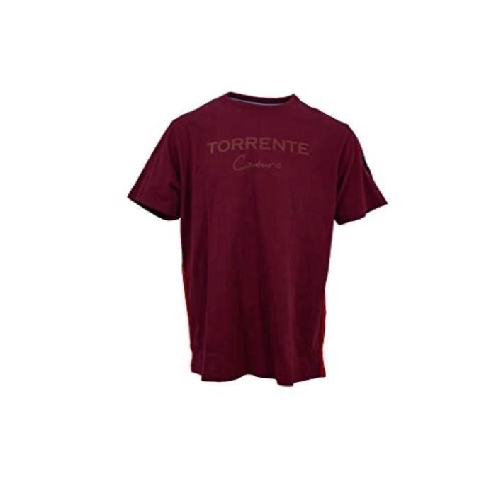 T-shirt manches courtes col rond uni Torrente Couture Ancaeum - Bordeaux
