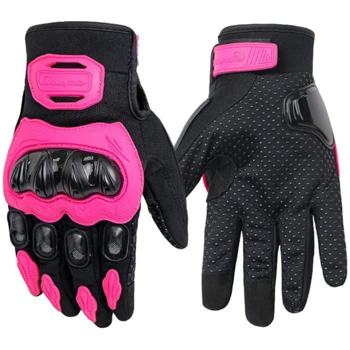 gant moto homme femme gants à écran tactile plein-doigt - anti-usure breathable gants ete pour scooter, auto moto, vélo, motocross
