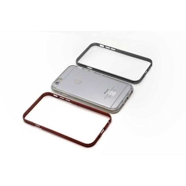CASE SCEN coque et bumper 3en1 pour Iphone 6 / 6S - Argent