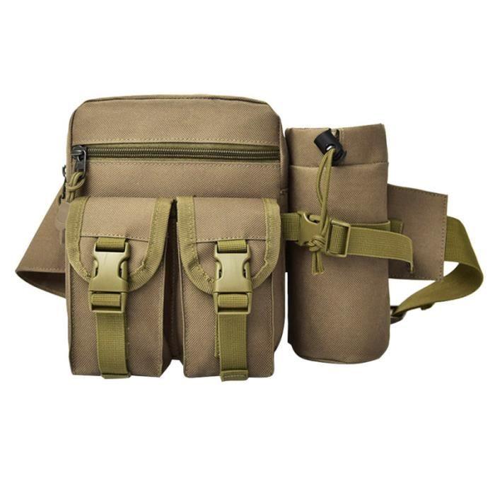 Portable Outdoor Tactics Militaire Pack Tactique Taille Sac Voyage Ceinture Bourse Bouilloire Pochette SAC A DOS DE RANDONNEE