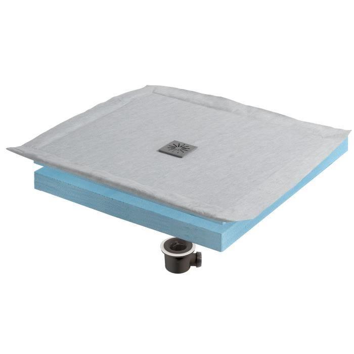 WIRQUIN Kit receveur à carreler Eco 90x90 cm grille carrée