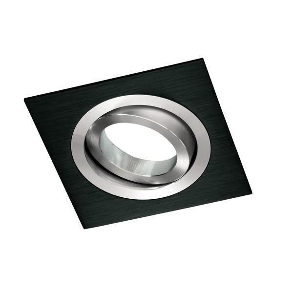 Spot encastrable CLASSIC carré noir. Wonderlamp