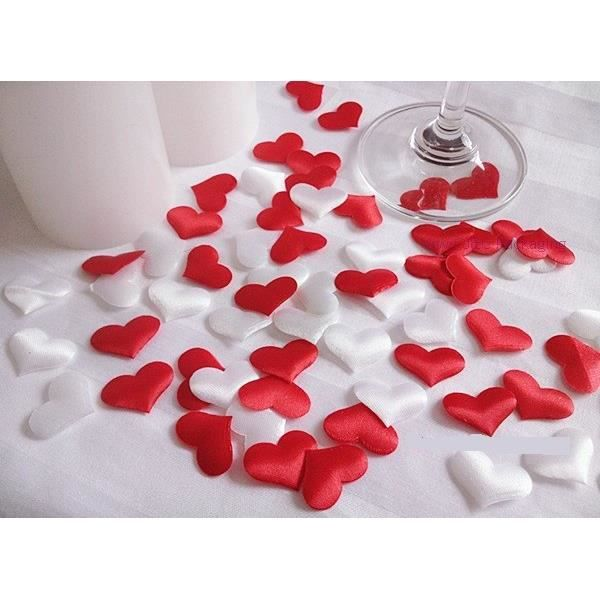 confettis coeur deco table mariage rouge et blanc achat vente d cors de table cdiscount. Black Bedroom Furniture Sets. Home Design Ideas