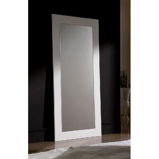 grand miroir mod le e 77 blanc achat vente miroir bois soldes cdiscount. Black Bedroom Furniture Sets. Home Design Ideas