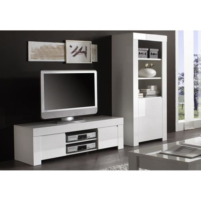 meuble tv 140cm laqu panamera couleur blanc achat vente meuble tv meuble tv 140cm laqu. Black Bedroom Furniture Sets. Home Design Ideas