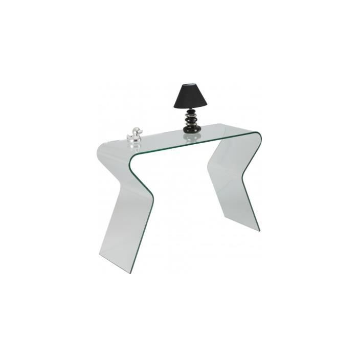 CONSOLE Console design verre courbé