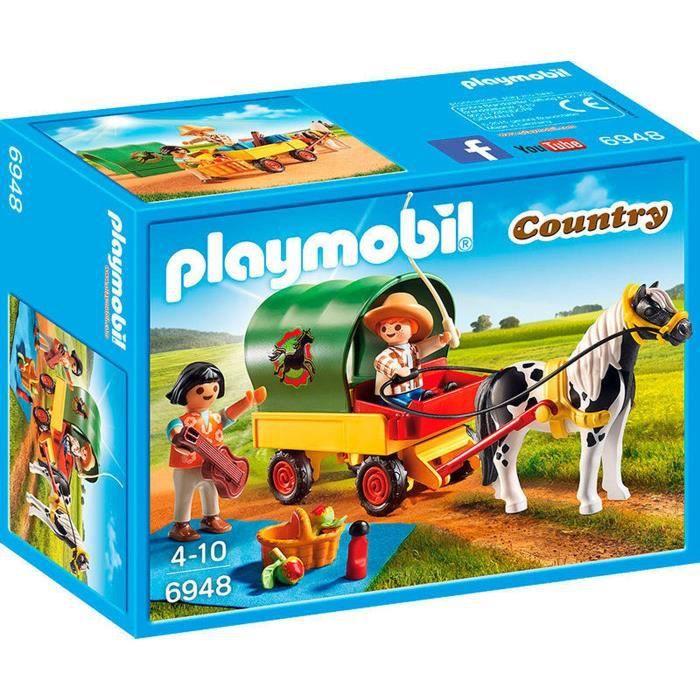 UNIVERS MINIATURE PLAYMOBIL 6948 - Country - Enfants avec Chariot et