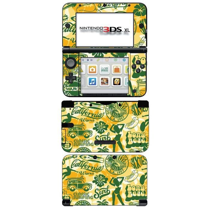 skin stickers pour nintendo 3ds xl sticker surfing. Black Bedroom Furniture Sets. Home Design Ideas