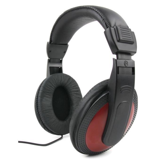 CASQUE AVEC MICROPHONE Casque audio rouge pour PC HP Pavilion 15-p031nf