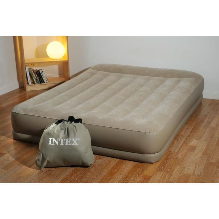 intex lit gonflable basic 2 places gonfleur achat vente lit gonflable airbed soldes d. Black Bedroom Furniture Sets. Home Design Ideas