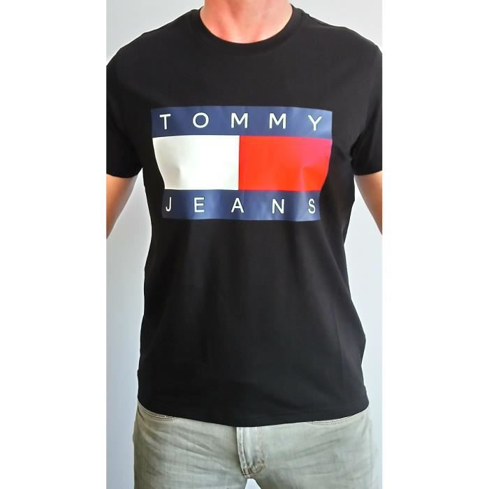6a3aad076331 TEE SHIRT HOMME TOMMY HILFIGER TOMMY JEANS NOIR Noir NOIR - Achat ...