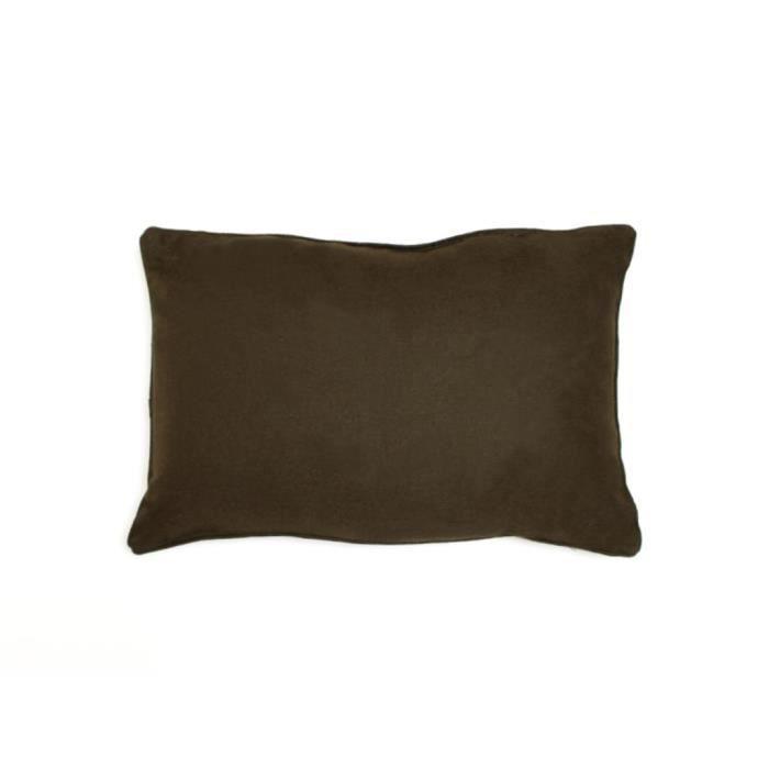 COUSSIN Coussin déco 30x50 cm en coton PANAMA taupe