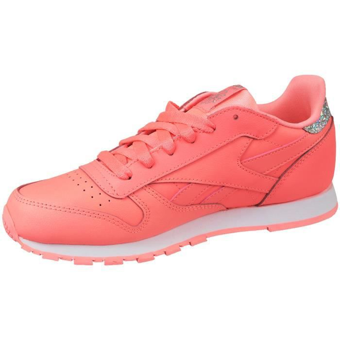 Reebok Classic Leather BS8981 Enfant mixte Baskets Rose 1ieiYwO