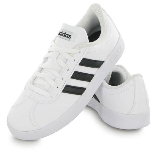 ADIDAS Baskets VL Court 2.0 - Enfant Garçon - Blanc et noir Blanc ...